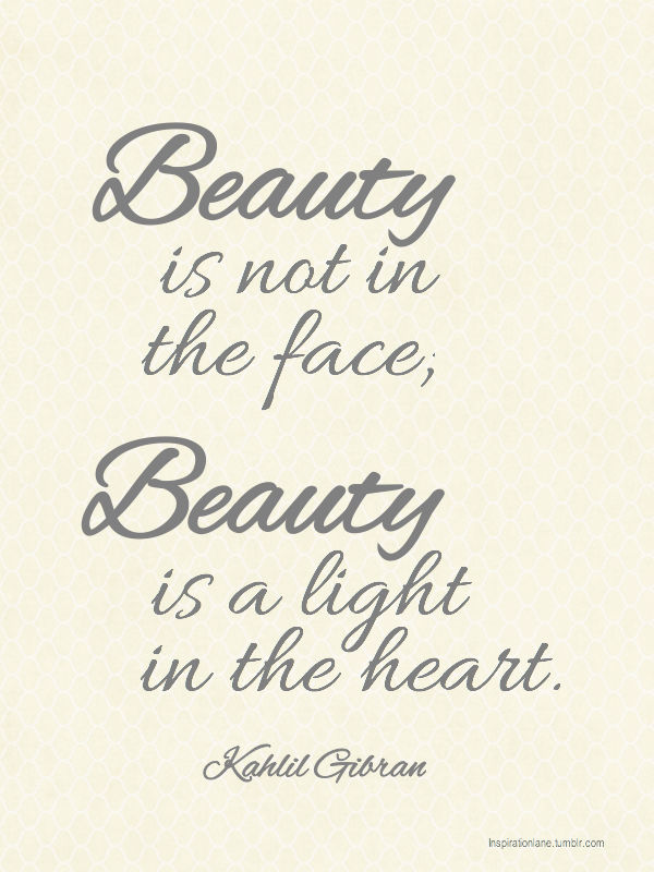 Picture quote by Khalil Gibran about beauty