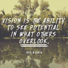 Leadership vision quote Vision is the ability to see potential in what other overlook.