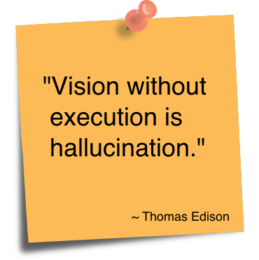 Hallucination quote Vision without execution is hallucination.