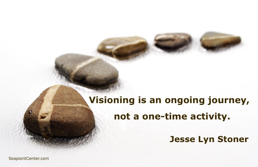 Activity quote Visioning is an ongoing journey, not a one-time activity.