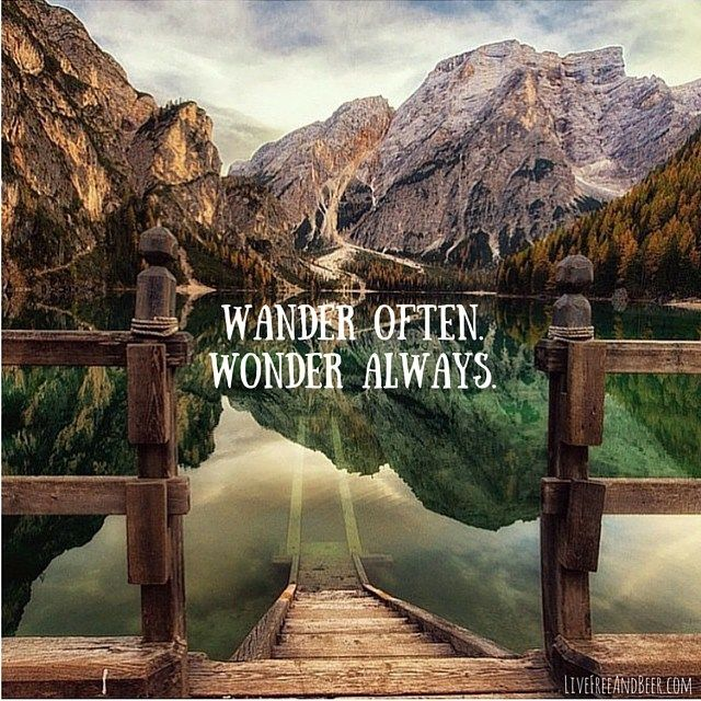 Wander Often Wonder Always Sayings Image