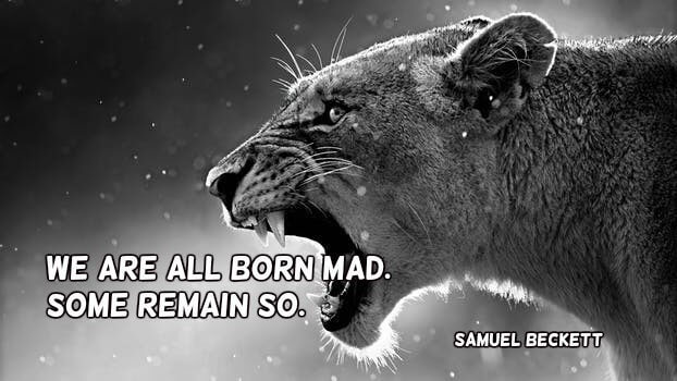 Madly quote We are all born mad. Some remain so.