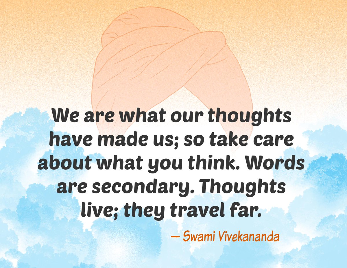 We are what our thougts have made us; so take care about what you think. Words are secondary. Thoughts live; they travel far. - Swami Vivekananda