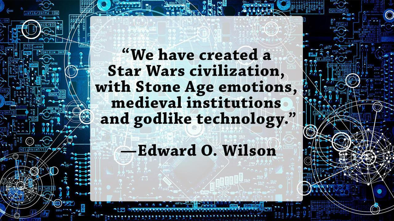 Technology quote We have created a Star Wars civilization with Stone Age emotions, medieval insti