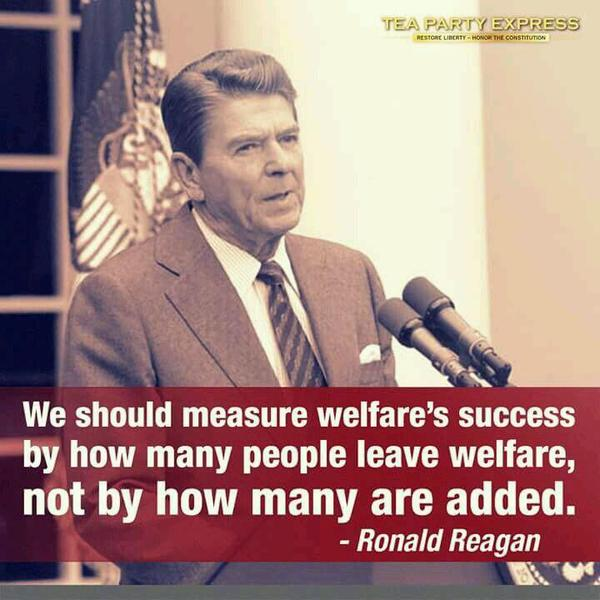 Measure of success quote We should measure welfare's success, by how many people leave welfare, not by ho