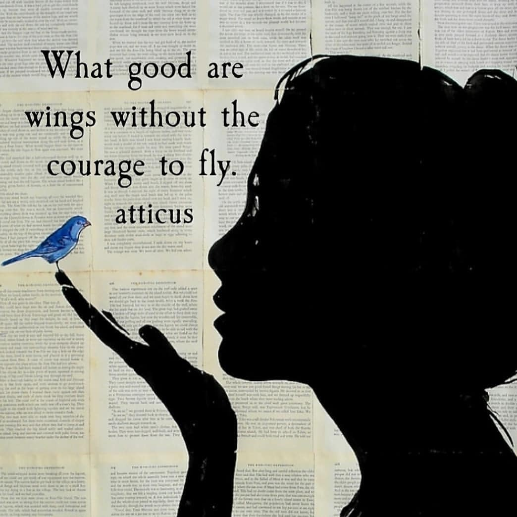 Flying quote What good are wings withou the courage to fly.