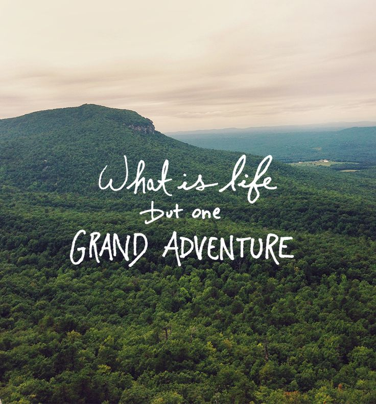 What is life but one grand adventure. - Sayings