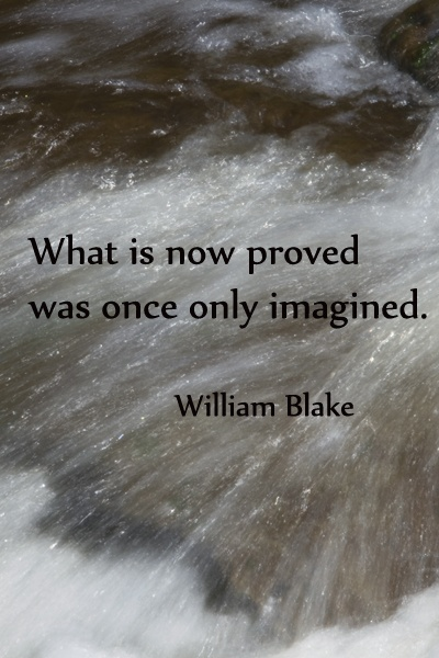 Creation science quote What is now proved was once only imagined.
