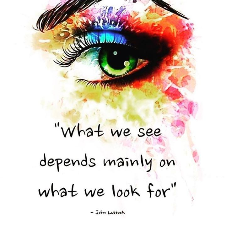 Christian inspirational quote What we see depends mainly on what we look for.