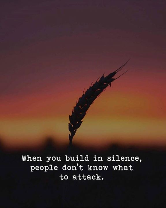 Build quote When you build in silence, people don't know what to attack.