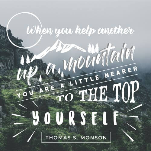 Picture quote by Thomas S. Monson about help