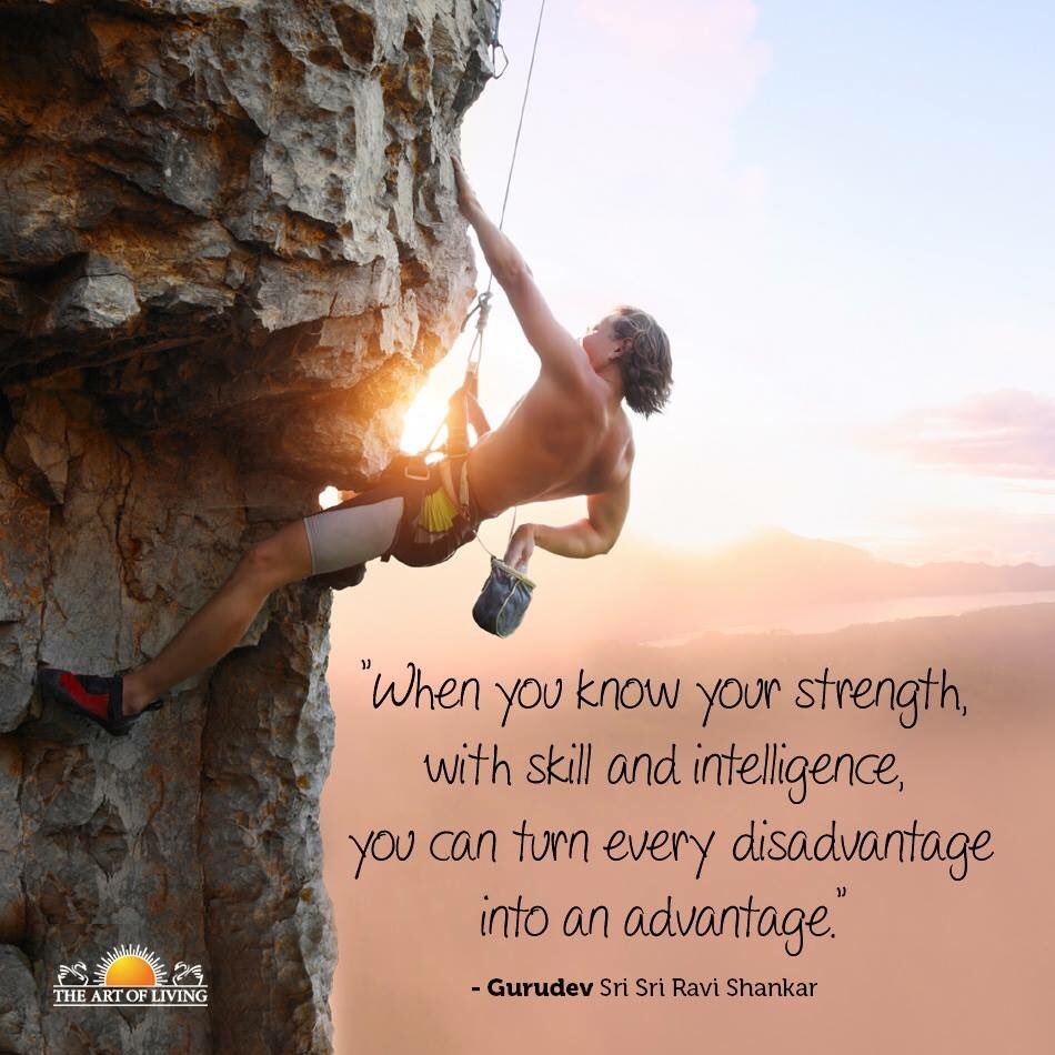Turning quote When you know your strength, you can turn any disadvantage into an advantage.