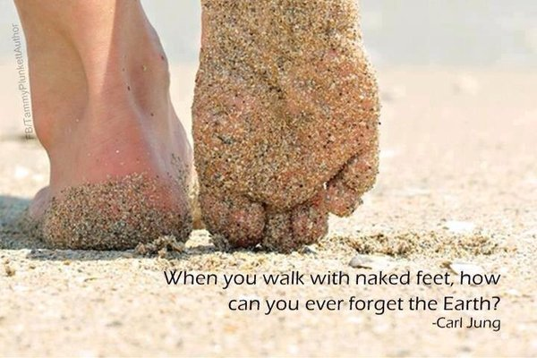 When you walk with naked feet, how can you ever forget the Earth. - Carl Jung