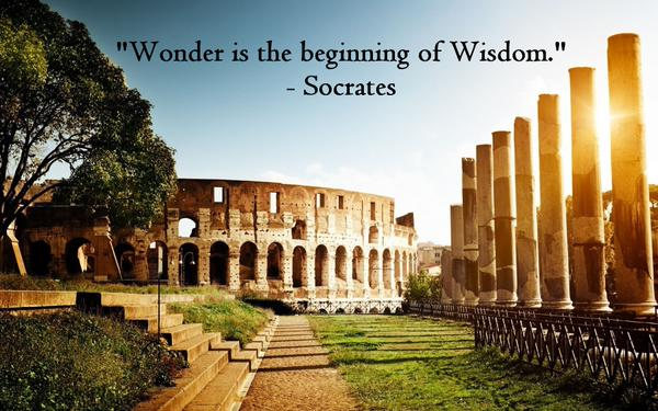 Wonder is the beginning of wisdom. - Socrates