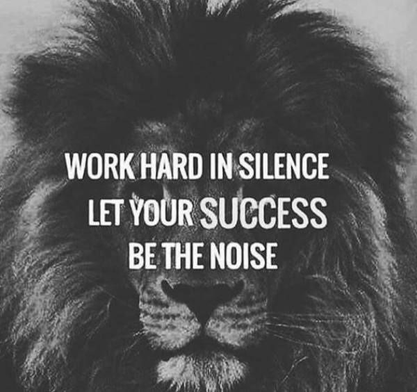 Social work quote Work hard in silence, let your success be the noise