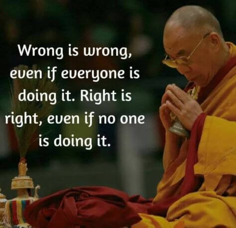 Prove me wrong quote Wrong is wrong, even if everyone is doing it. Right is right, even if no on is d