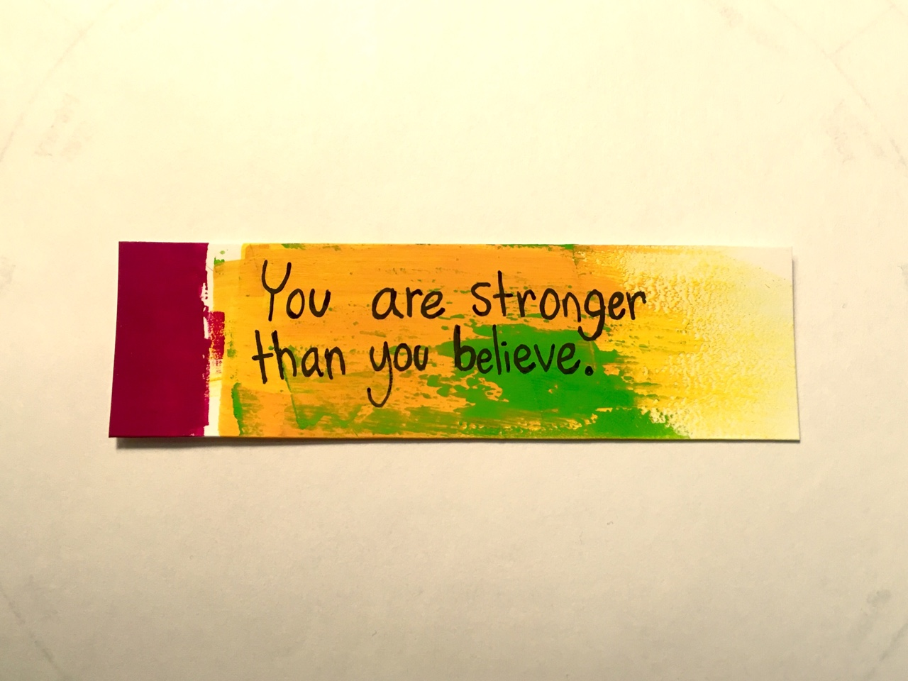 Strong quote You are stronger than you believe.