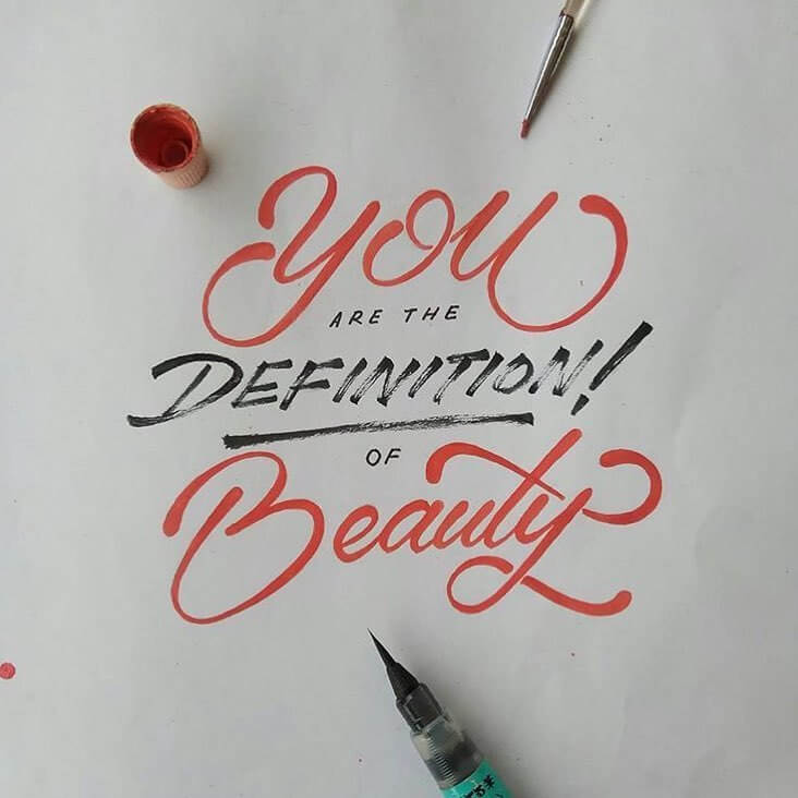 Beautiful love quote You are the definition of beauty !