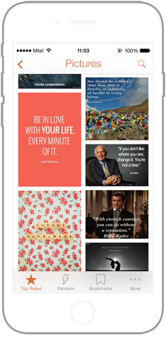Quotlr daily quotes for your iPhone and Andorid